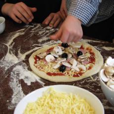 10-teilige Pizza Backvorrichtung aus Edelstahl