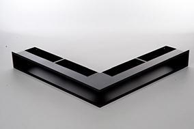 CB Eckluftleiste 560x560mm, schwarz